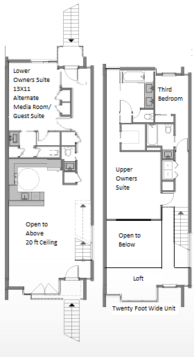 17 solar washington dc luxury condos and townhomes for Stacked townhouse floor plans